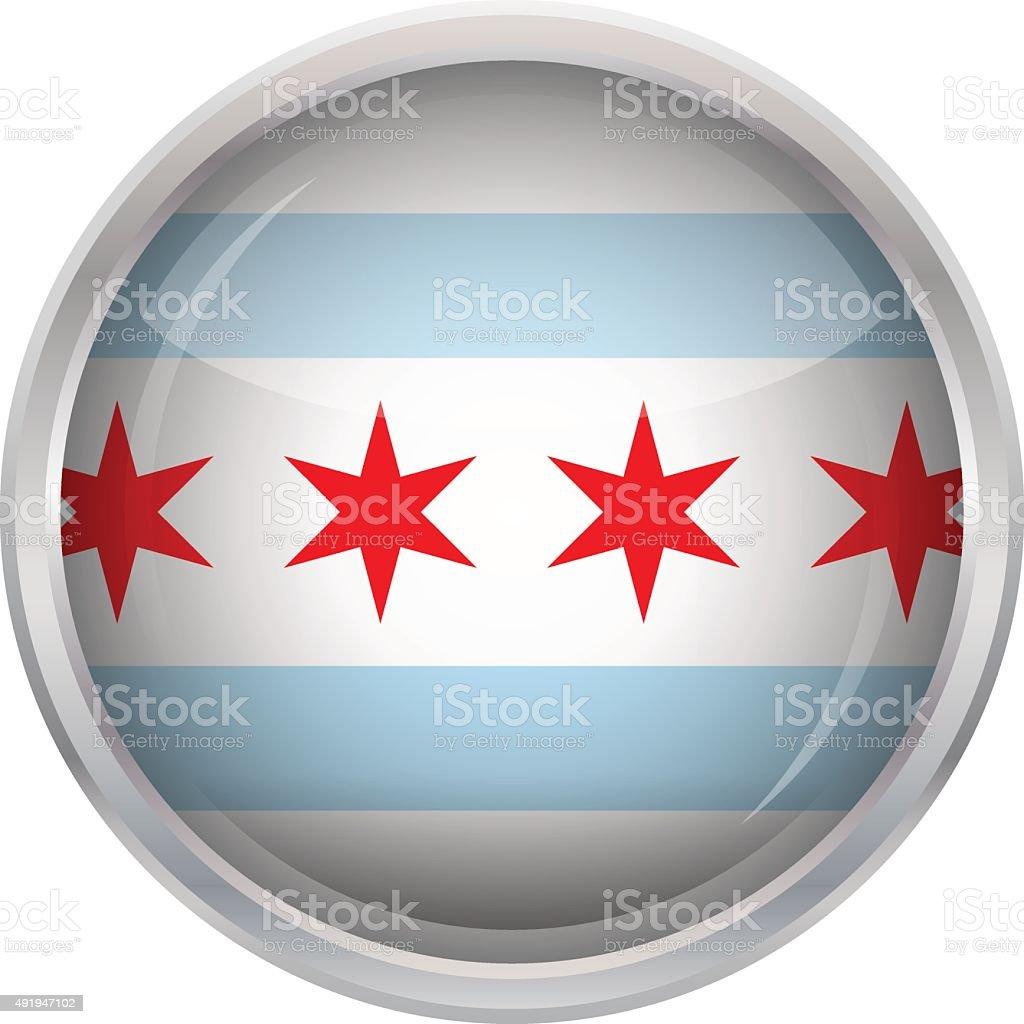 Flag Chicago vector art illustration