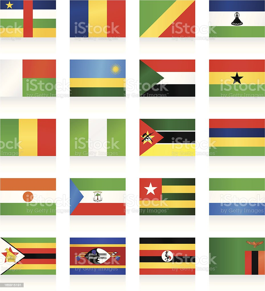 Flag collection - Africa royalty-free stock vector art