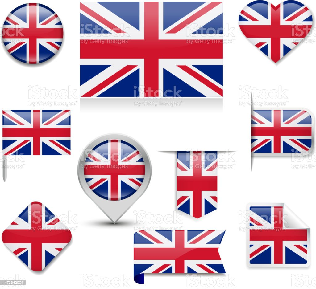 UK Flag Collection vector art illustration