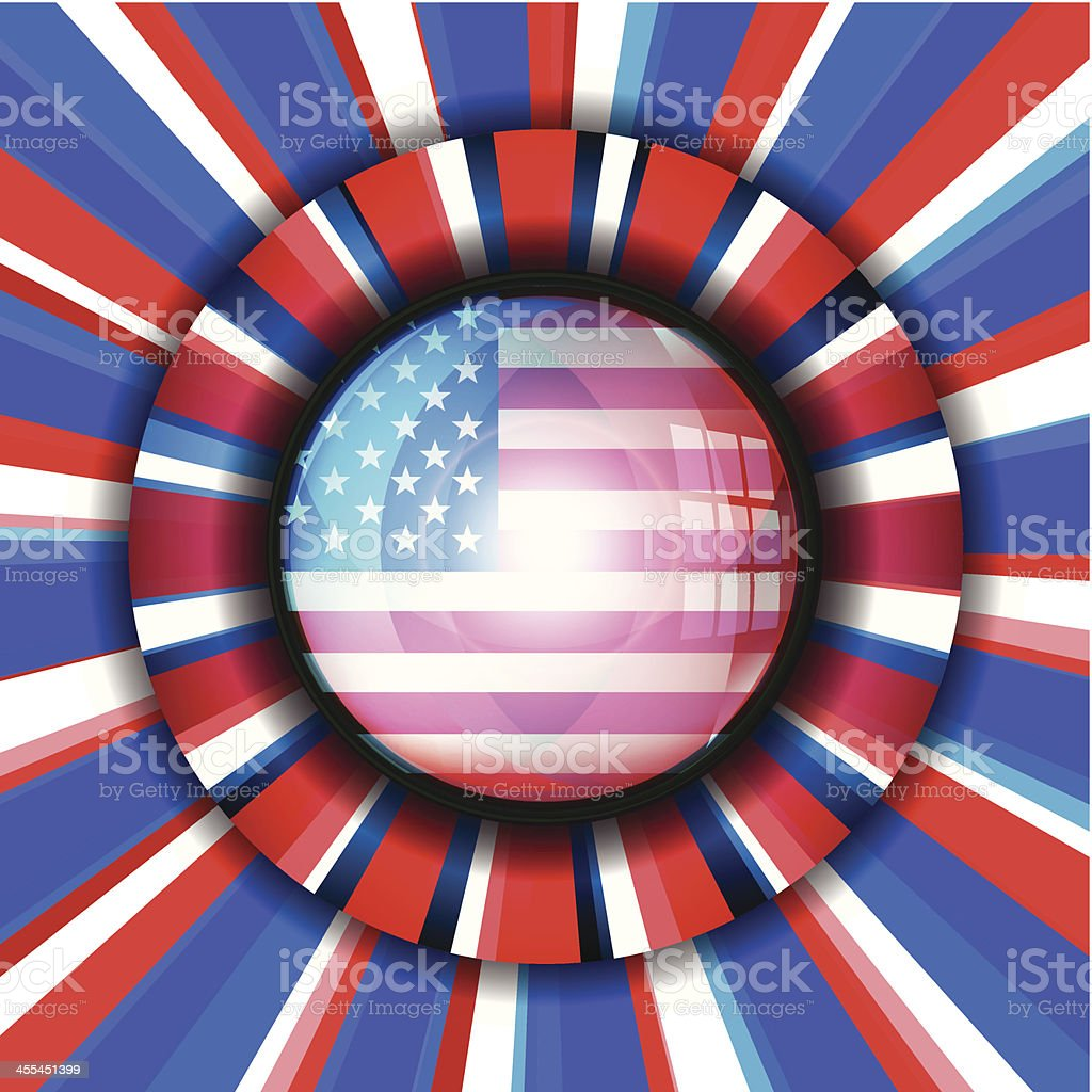 USA Flag Color Burst Background royalty-free stock vector art