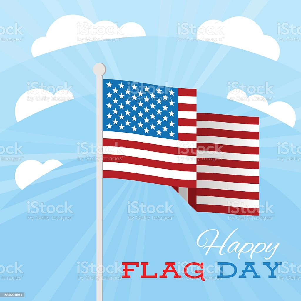 USA Flag Day background. Flag with stars and stripes. vector art illustration