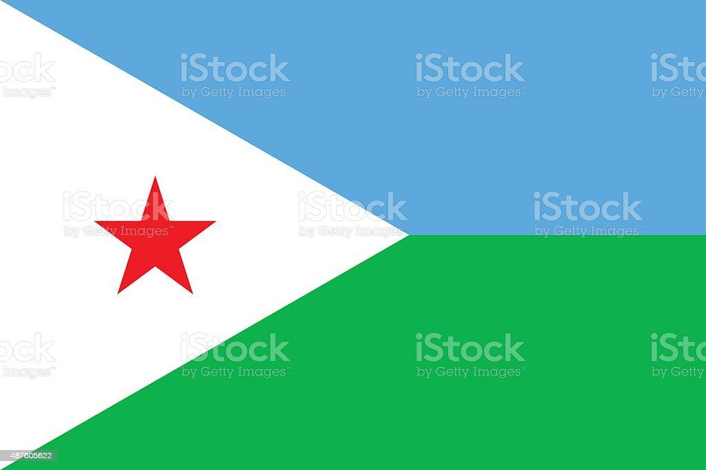 Flag Djibouti vector art illustration