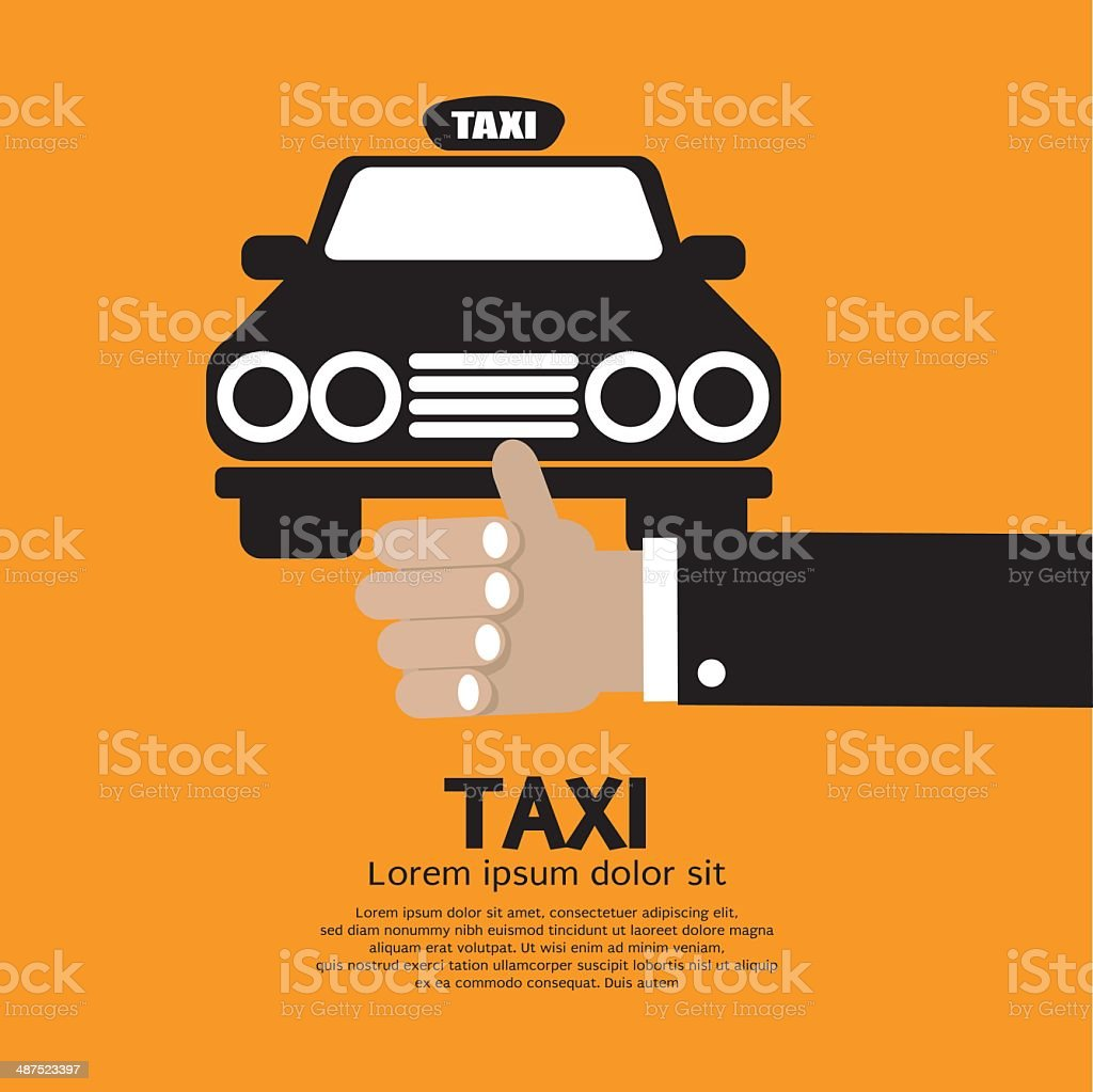 Flag Down A Cab vector art illustration