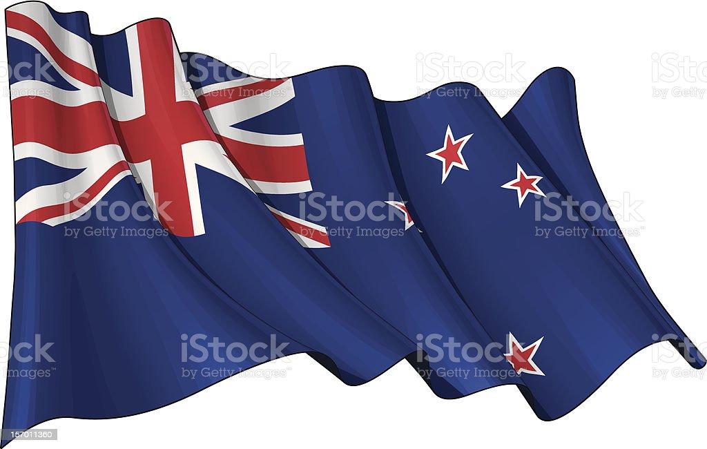Flag f New Zealand vector art illustration