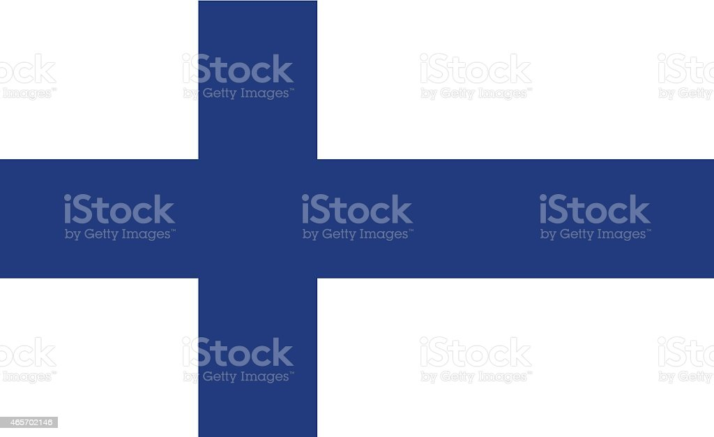 Flag Finland vector art illustration
