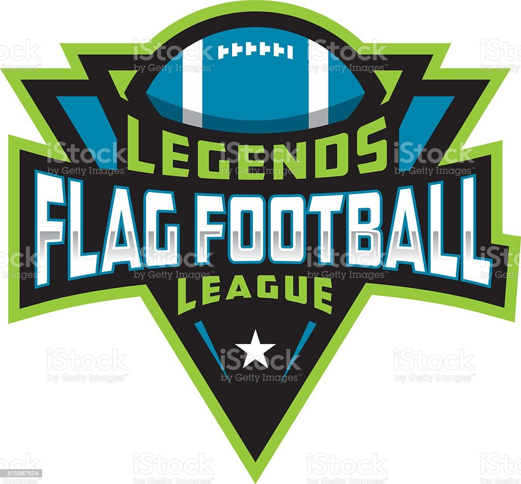 Flag Football League vector art illustration