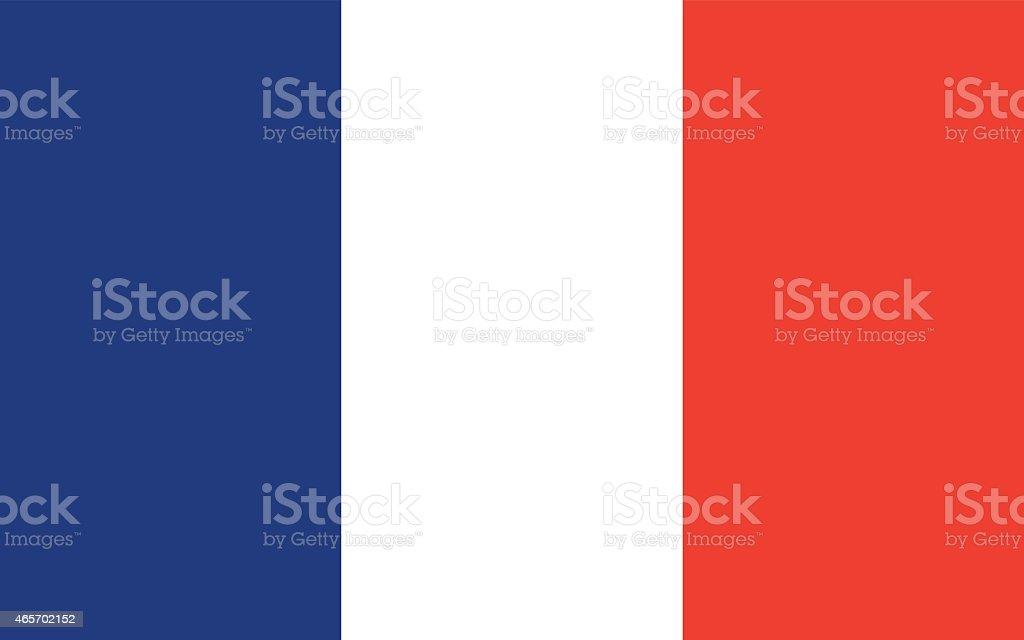 Flag France vector art illustration