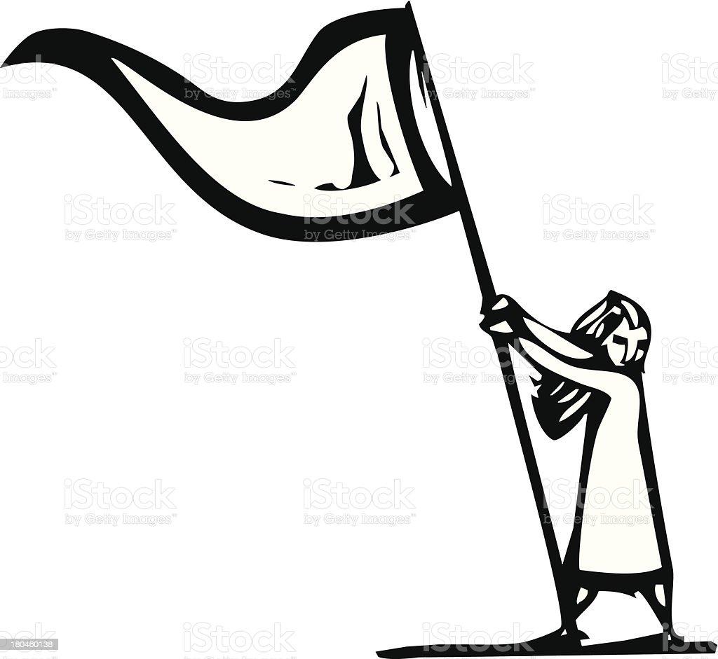 Flag Girl royalty-free stock vector art