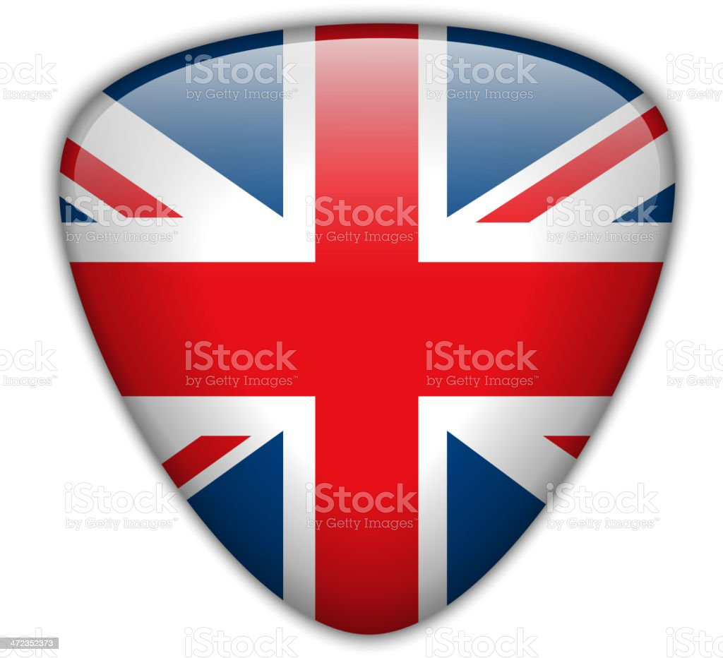 UK Flag Glossy Button royalty-free stock vector art