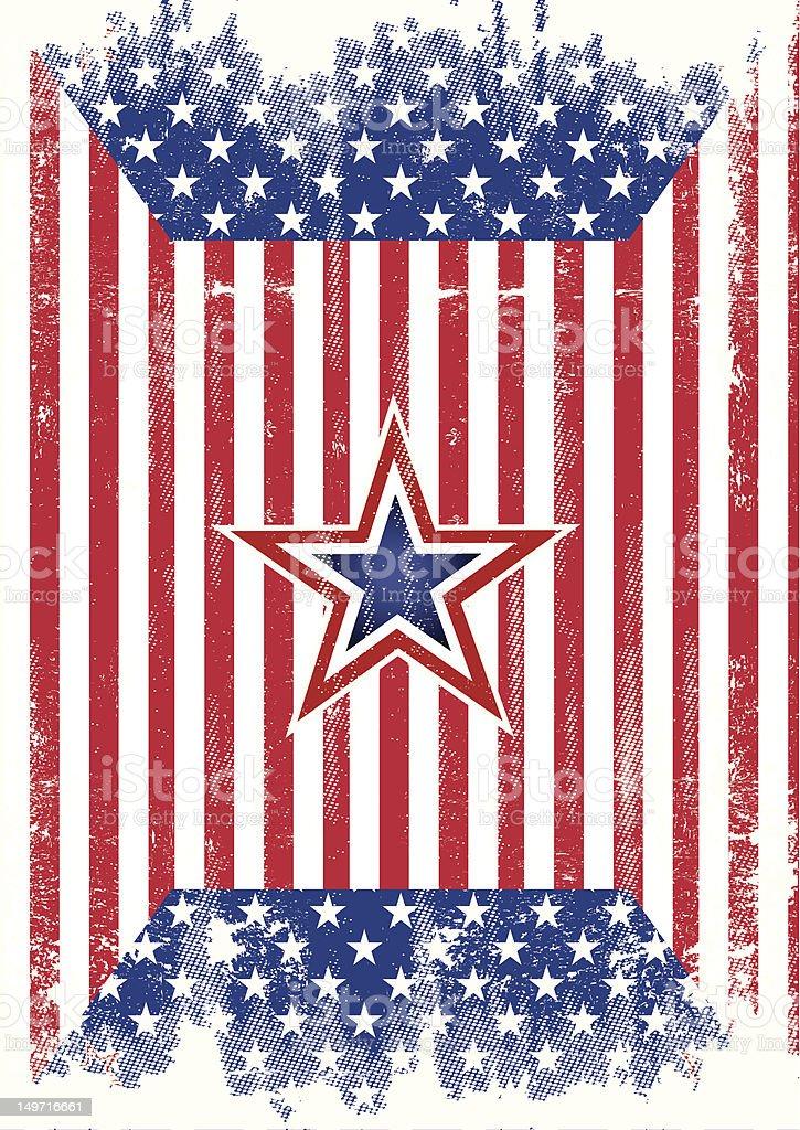 USA flag grunge royalty-free stock vector art