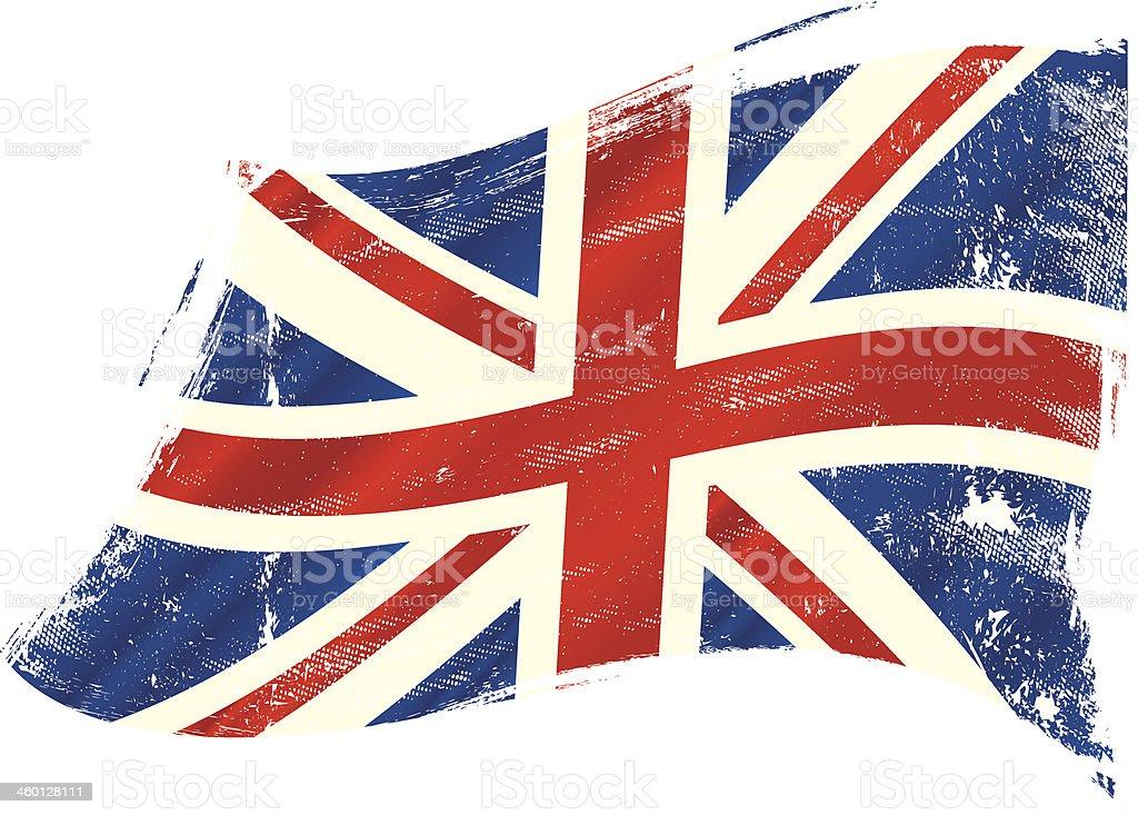 UK flag grunge vector art illustration