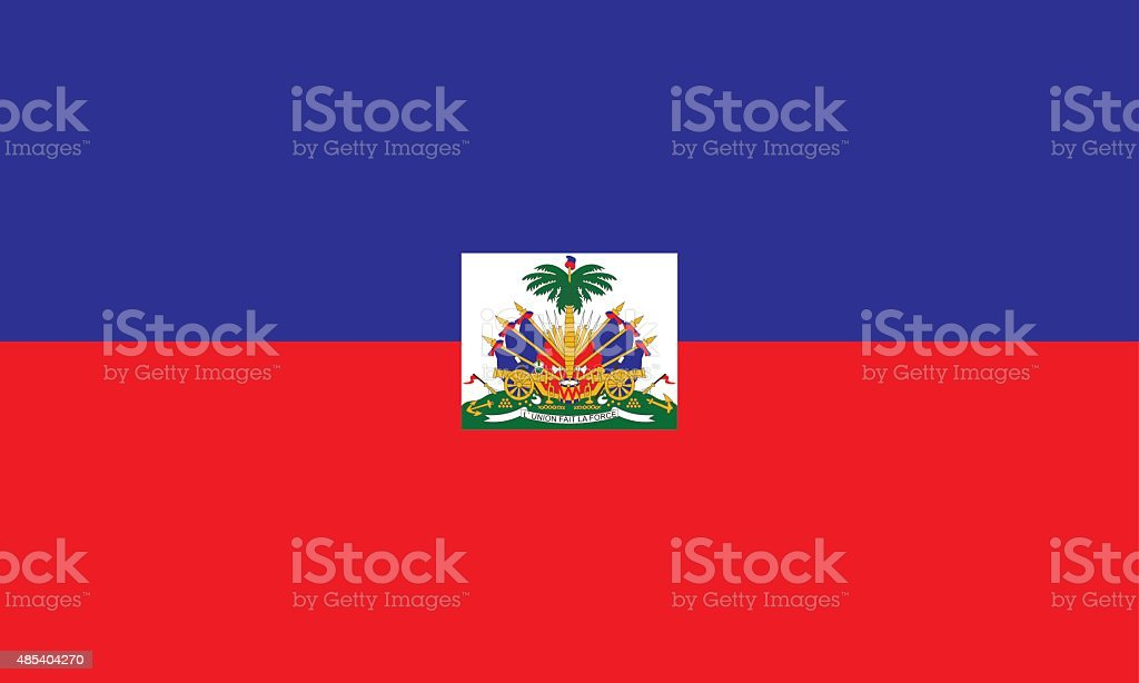 Flag Haiti vector art illustration