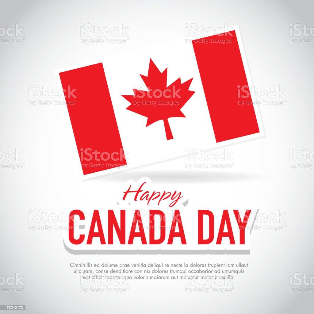 Flag Happy Canada Day Celebration greeting card design template vector art illustration