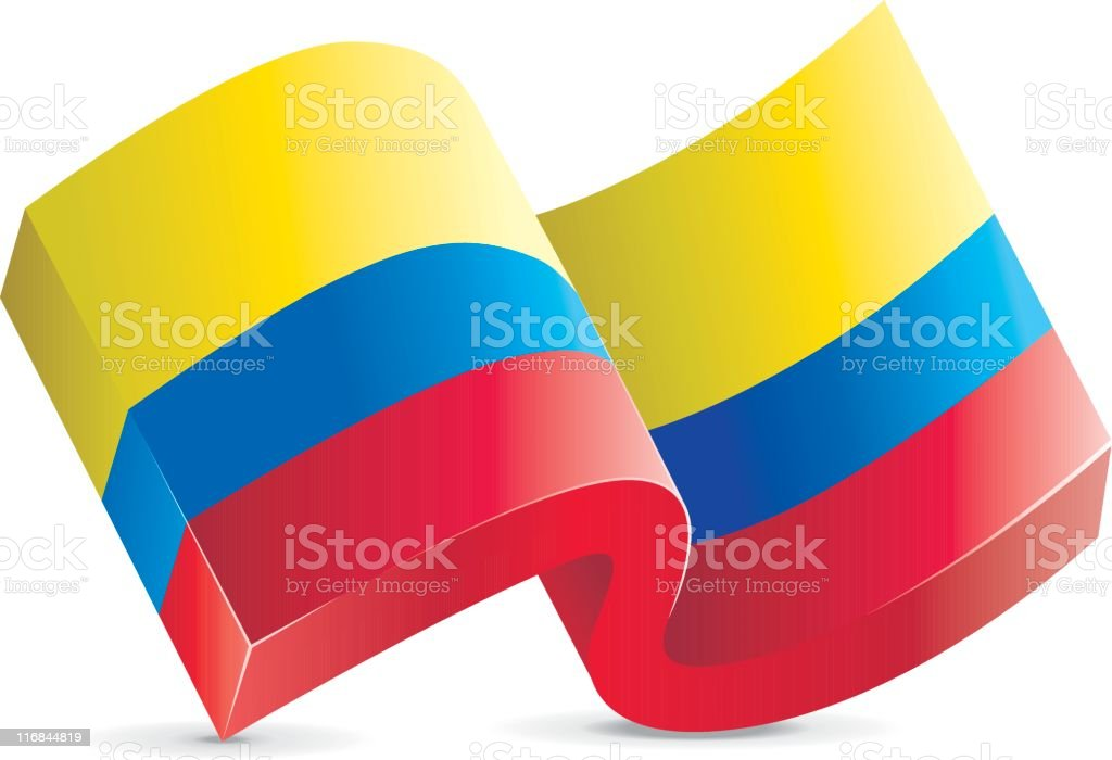 Flag Icon - Colombia royalty-free stock vector art