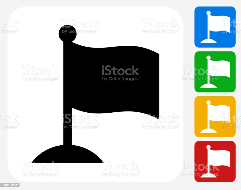 Flag Icon Flat Graphic Design vector art illustration