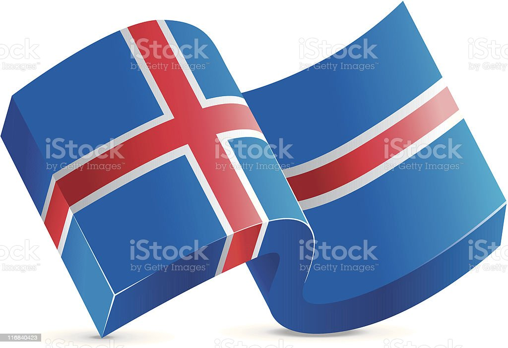 Flag Icon - Iceland royalty-free stock vector art