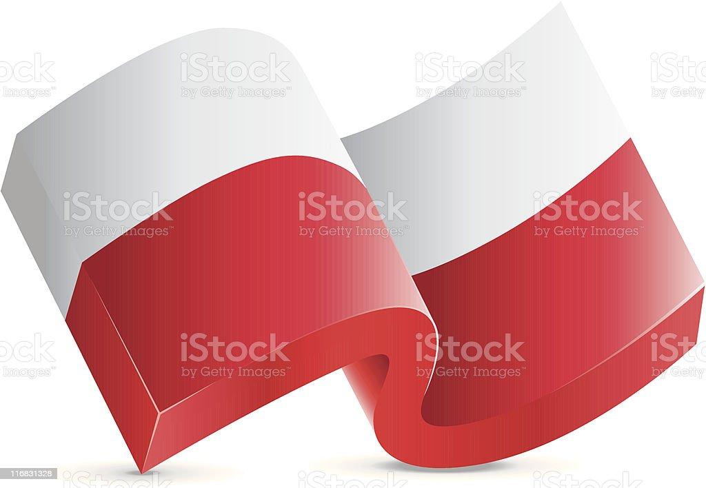 Flag Icon - Poland royalty-free stock vector art