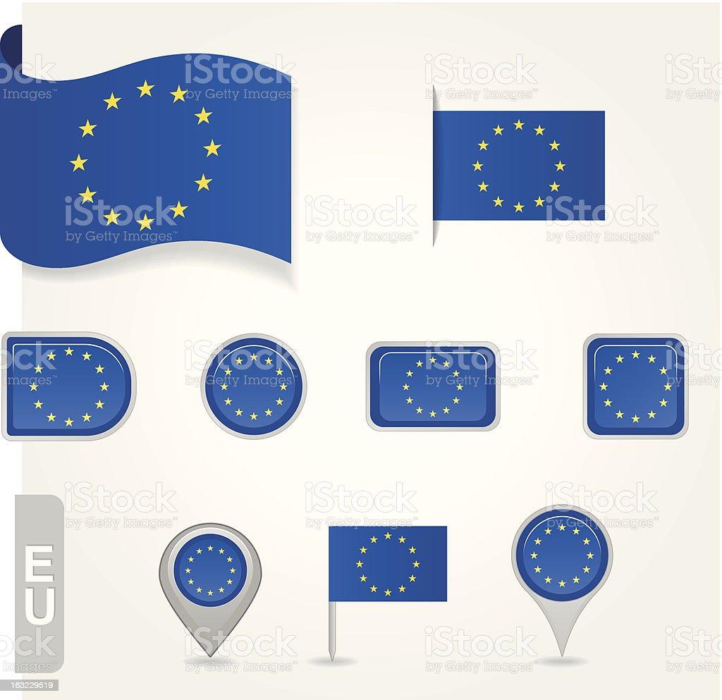 EU flag icon royalty-free stock vector art