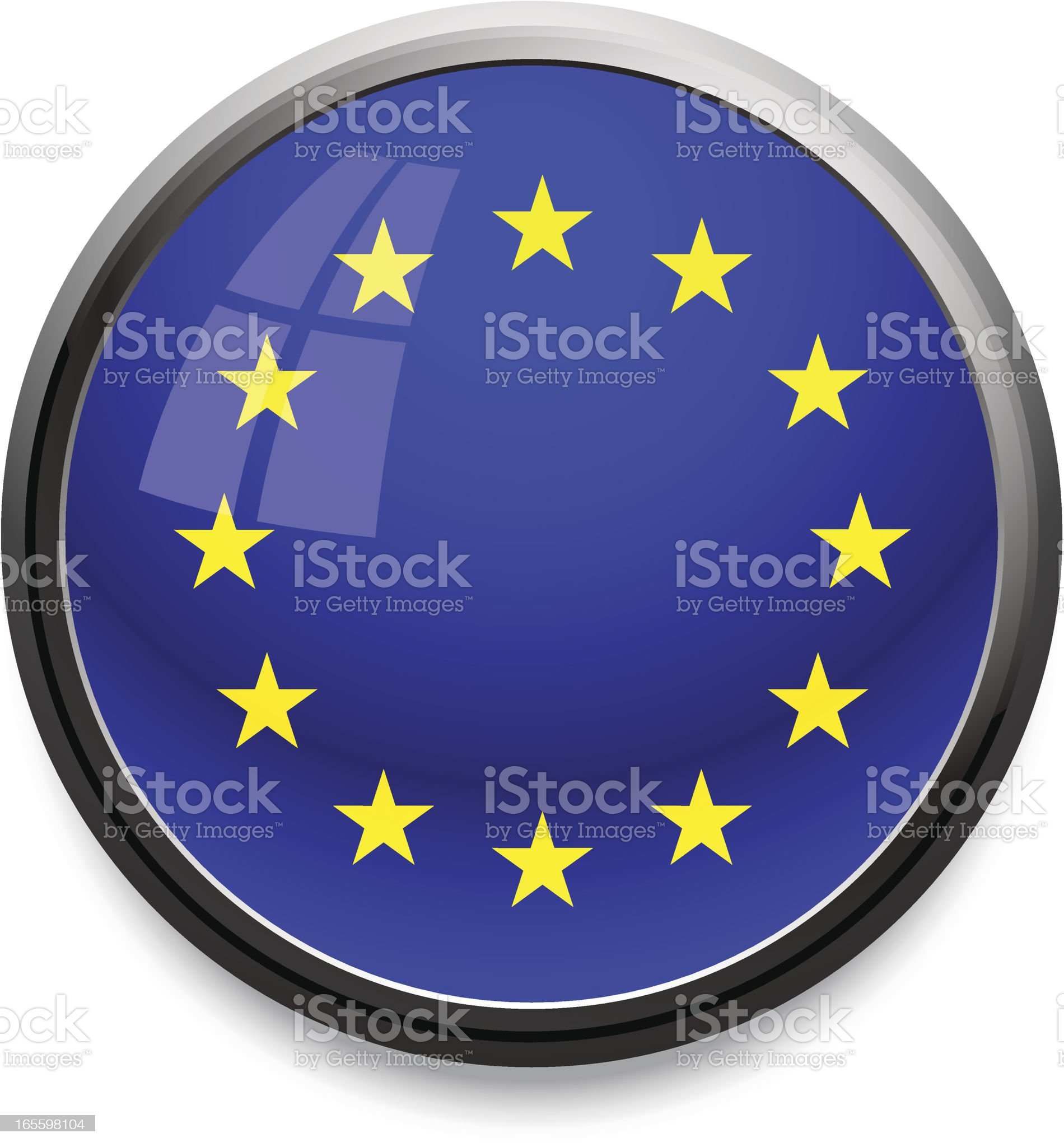 EU - flag icon royalty-free stock vector art