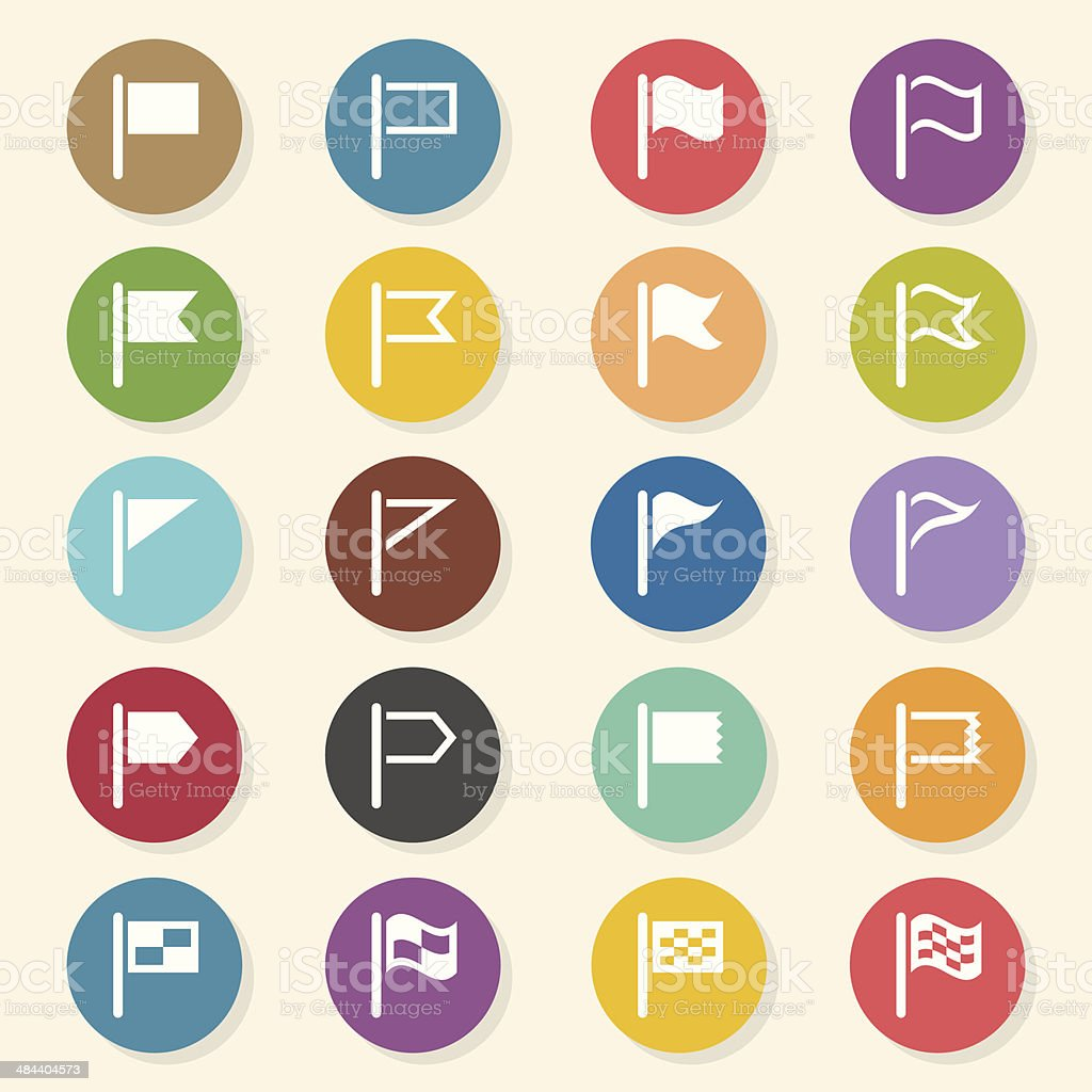 Flag Icons - Color Circle Series royalty-free stock vector art