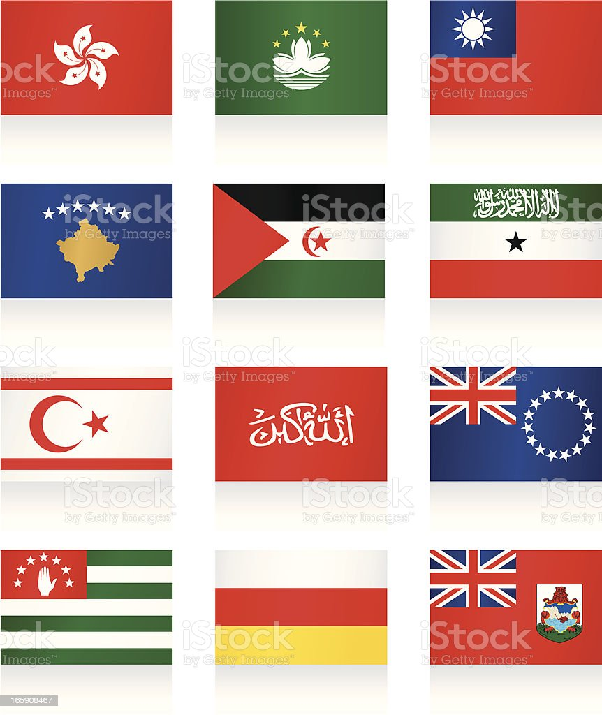 Flag icons of other Asian and European countries royalty-free stock vector art