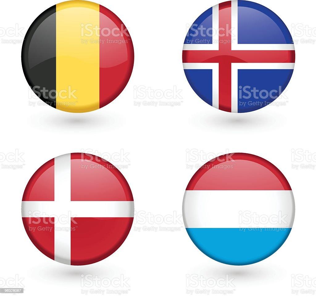 Flag icons vector art illustration