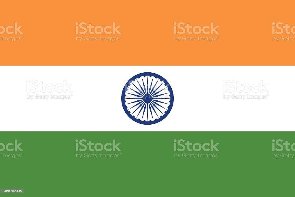 Flag India vector art illustration