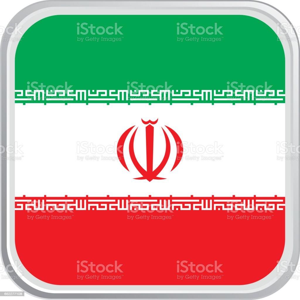 Flag Iran vector art illustration