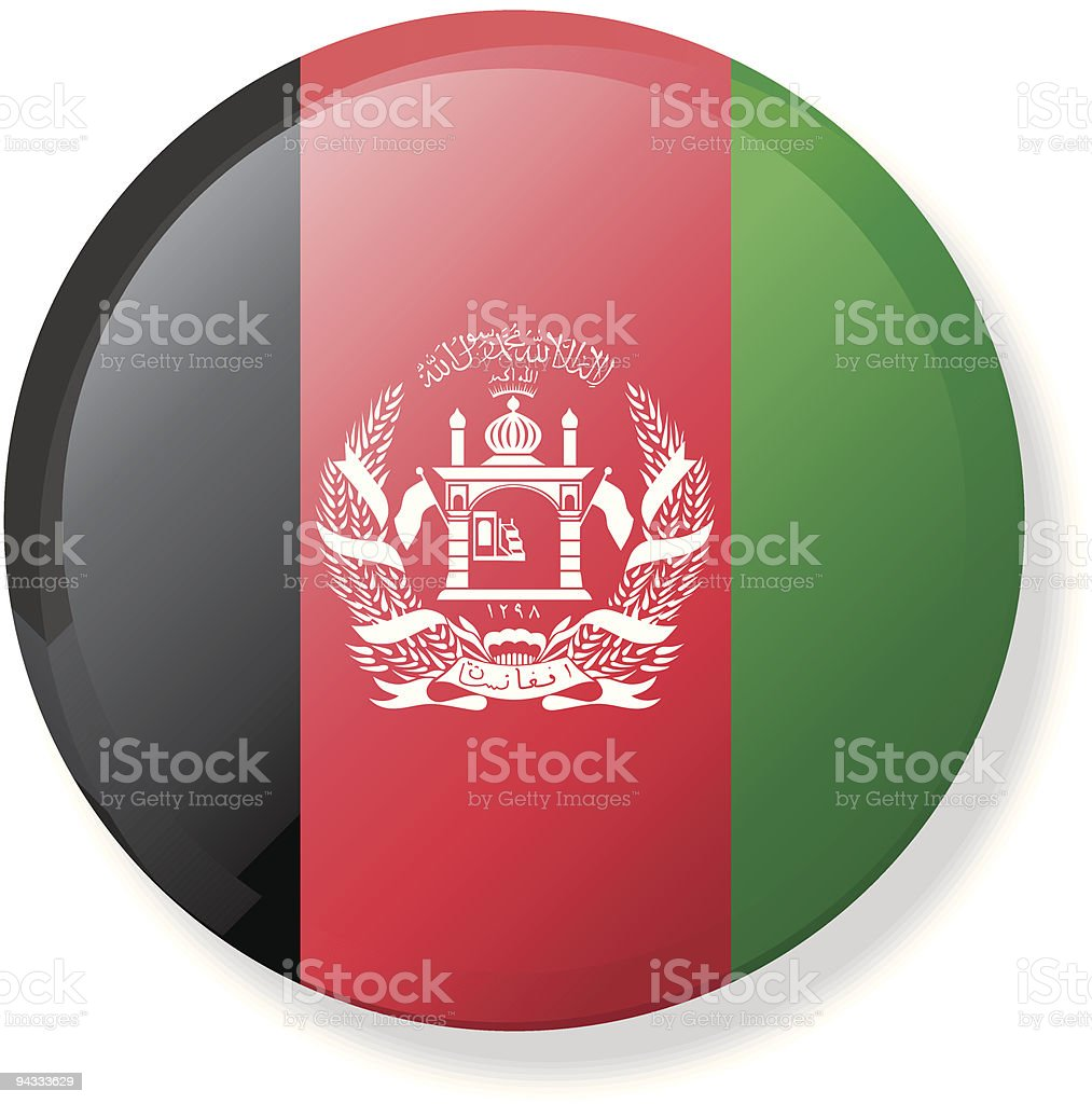 Flag Lapel Button - Afghanistan royalty-free stock vector art