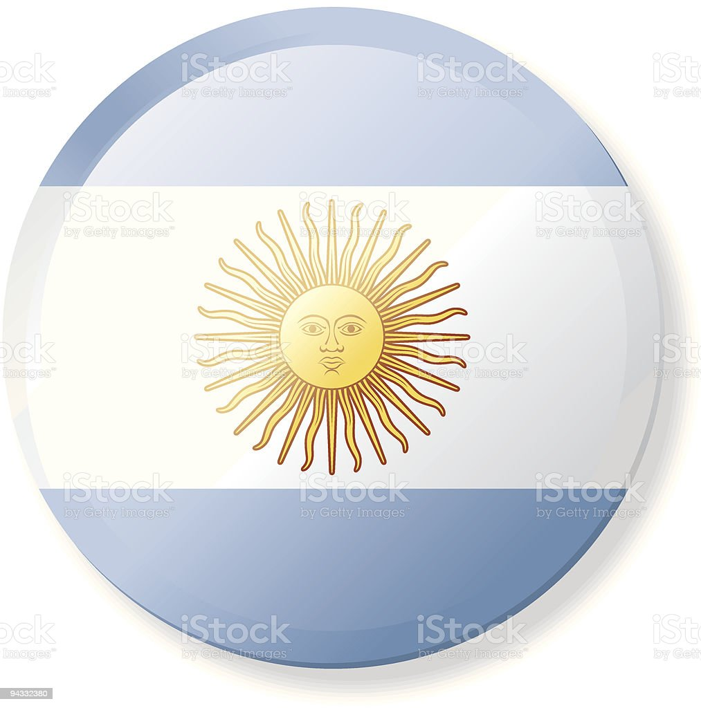 Flag Lapel Button - Argentina royalty-free stock vector art