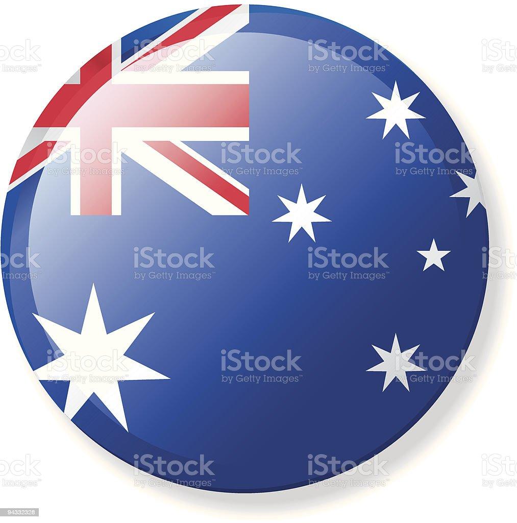 Flag Lapel Button - Australia royalty-free stock vector art