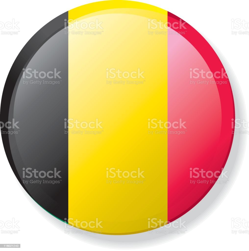 Flag Lapel Button - Belgium royalty-free stock vector art