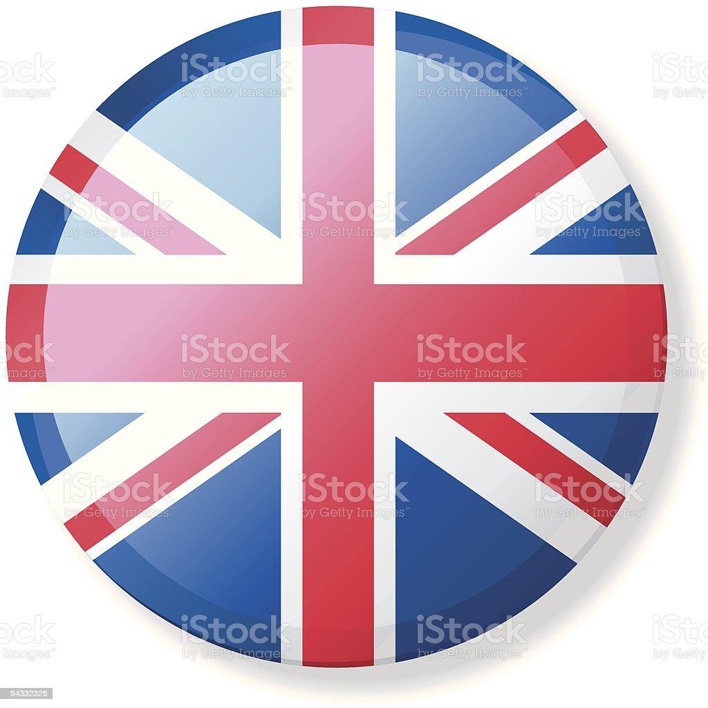 Flag Lapel Button - Britain vector art illustration