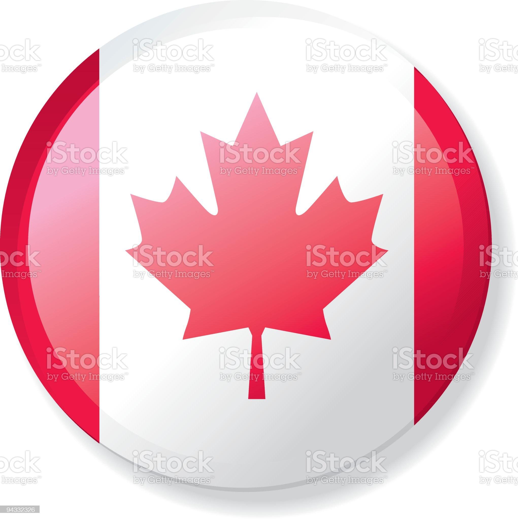 Flag Lapel Button - Canada royalty-free stock vector art