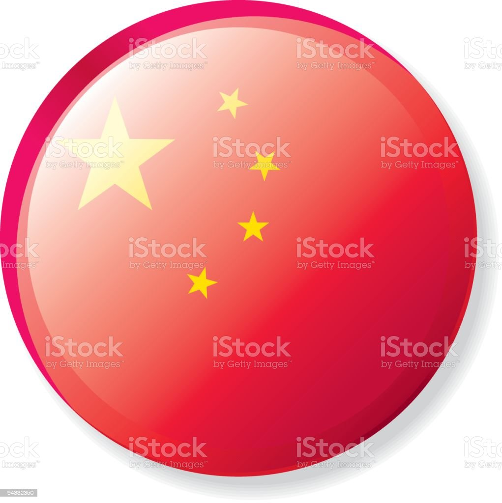 Flag Lapel Button - China royalty-free stock vector art