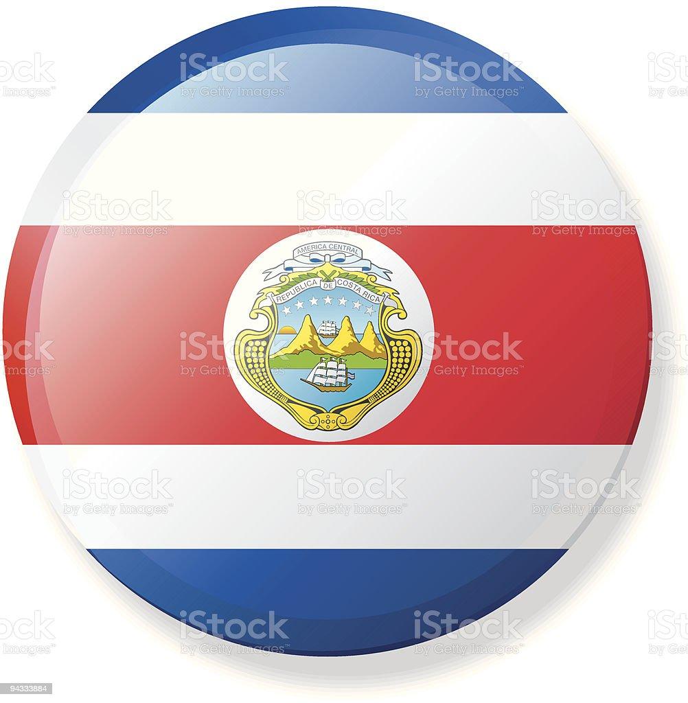 Flag Lapel Button - Costa Rica vector art illustration