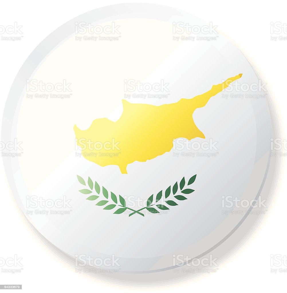 Flag Lapel Button - Cyprus vector art illustration