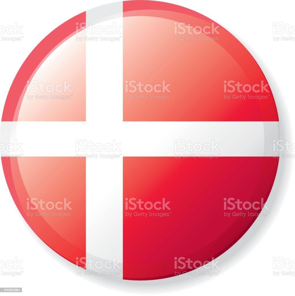 Flag Lapel Button - Denmark royalty-free stock vector art