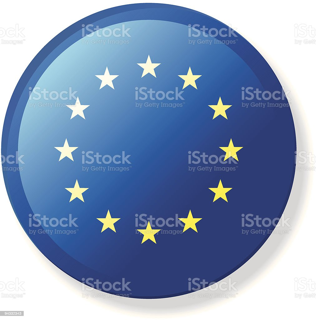 Flag Lapel Button - European Union royalty-free stock vector art