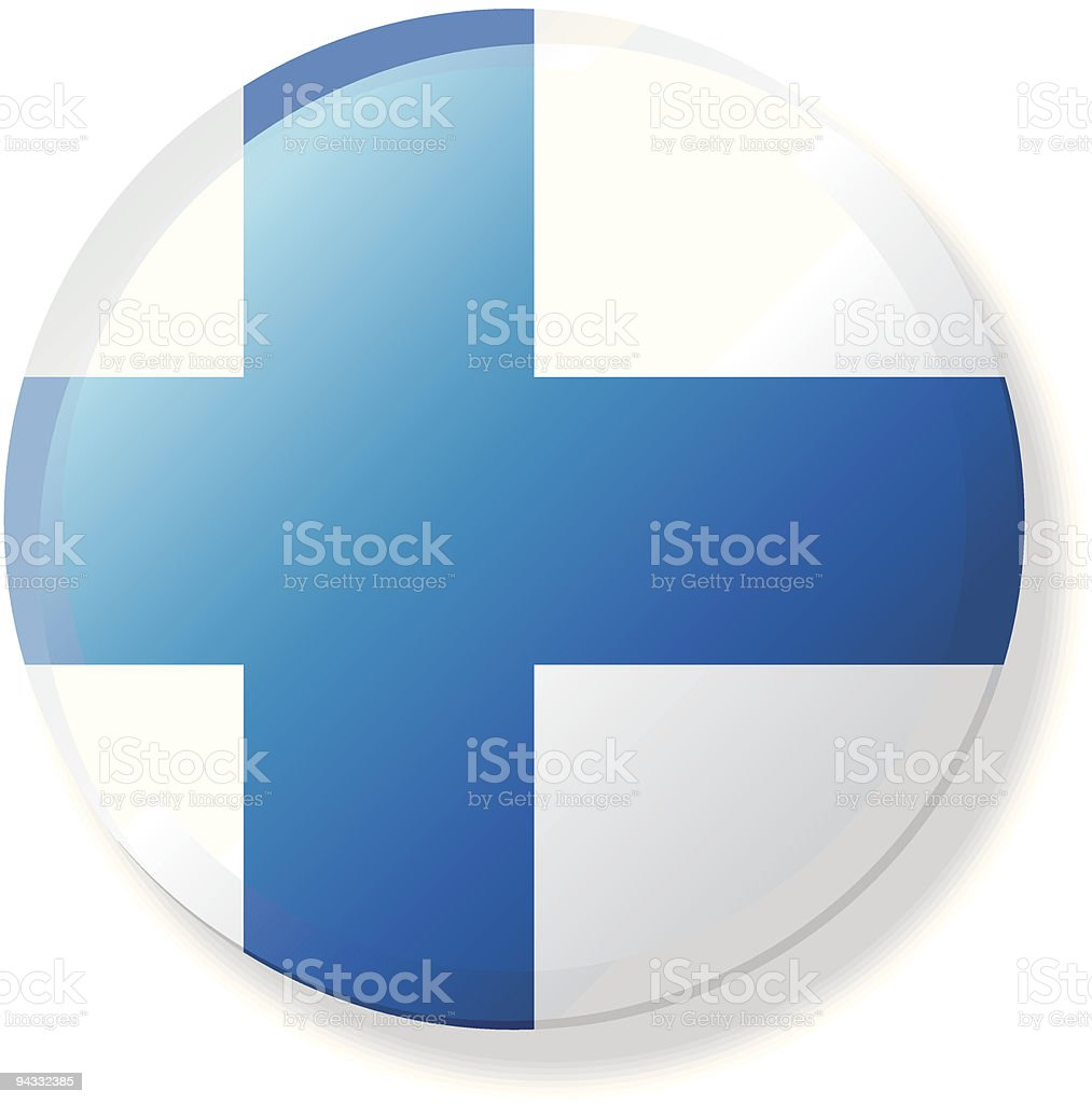 Flag Lapel Button - Finland vector art illustration