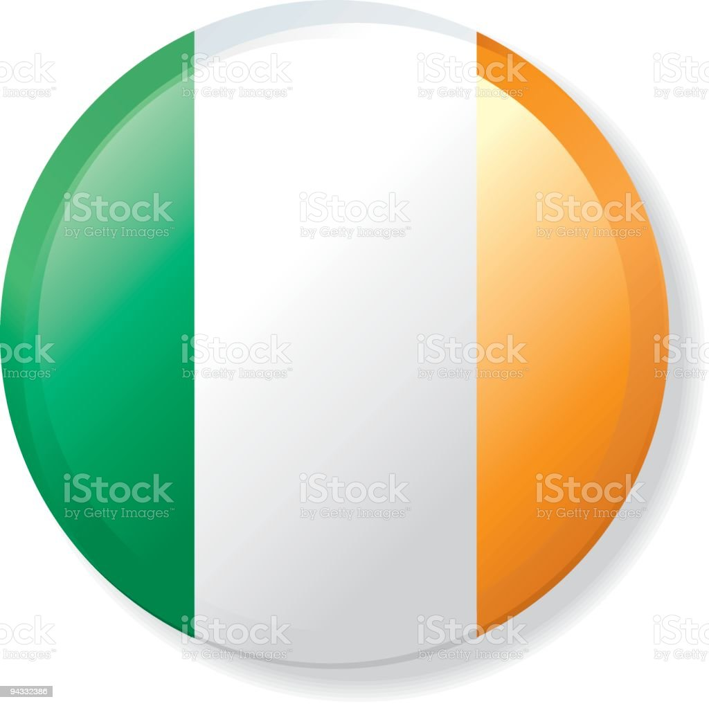 Flag Lapel Button - Ireland vector art illustration