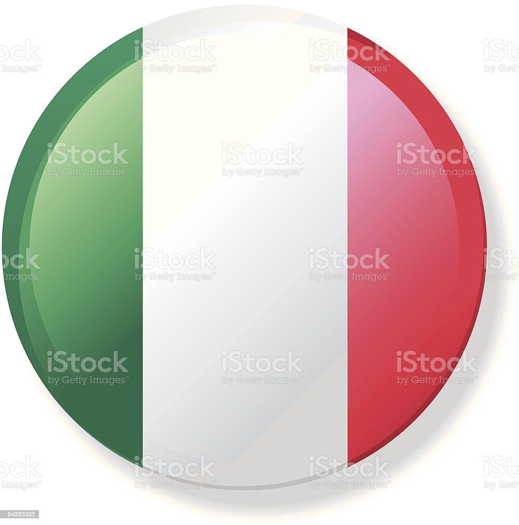 Flag Lapel Button - Italy vector art illustration