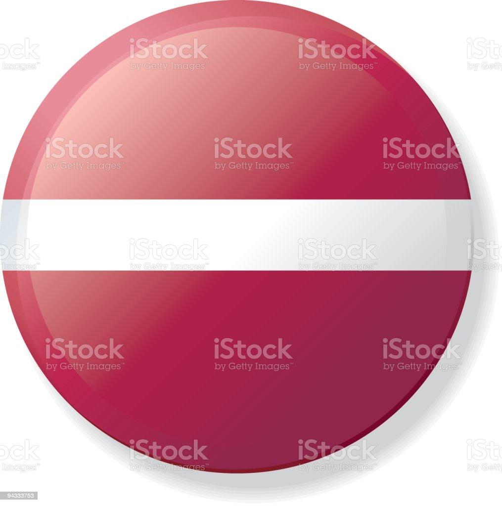 Flag Lapel Button - Latvia vector art illustration
