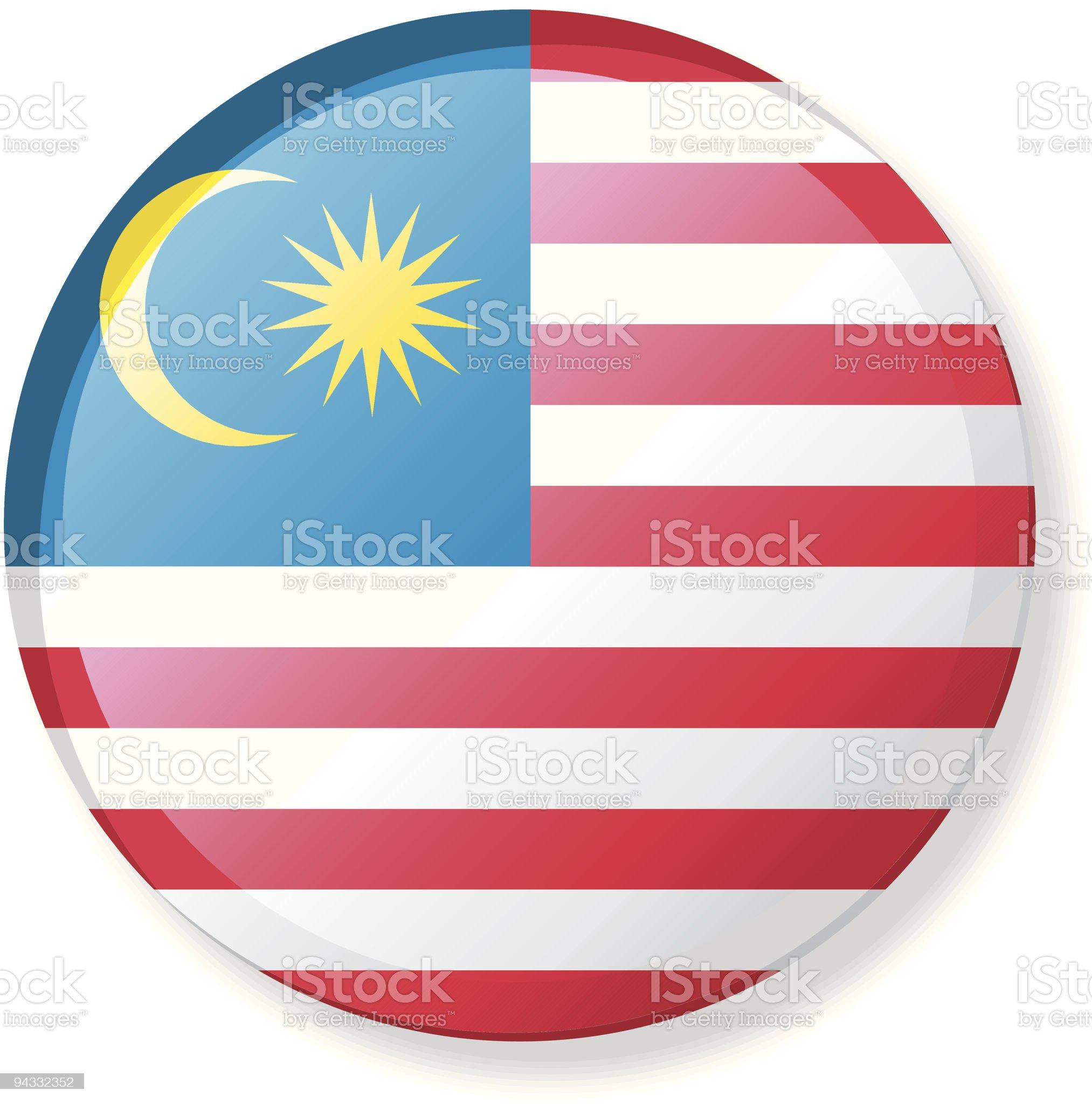 Flag Lapel Button - Malaysia royalty-free stock vector art