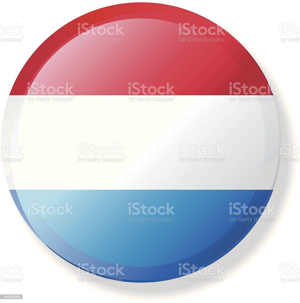 Flag Lapel Button - Netherlands vector art illustration