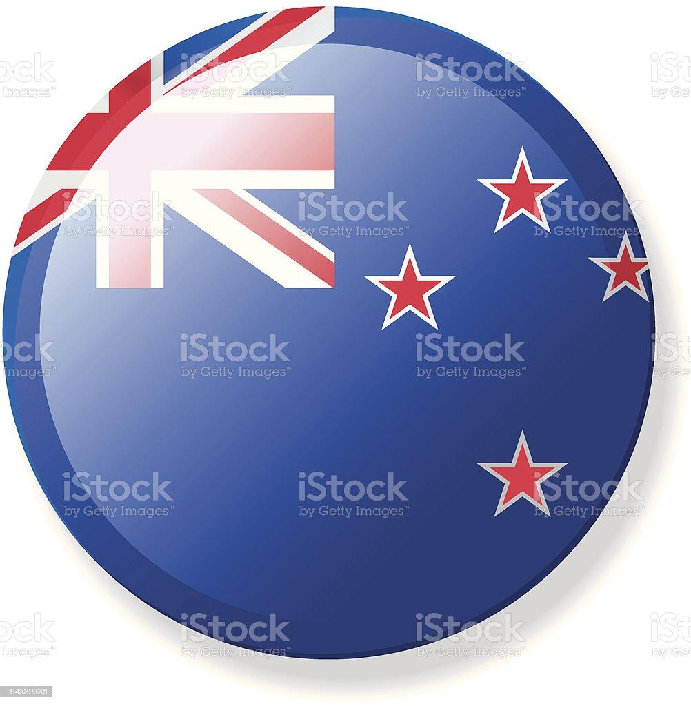 Flag Lapel Button - New Zealand royalty-free stock vector art