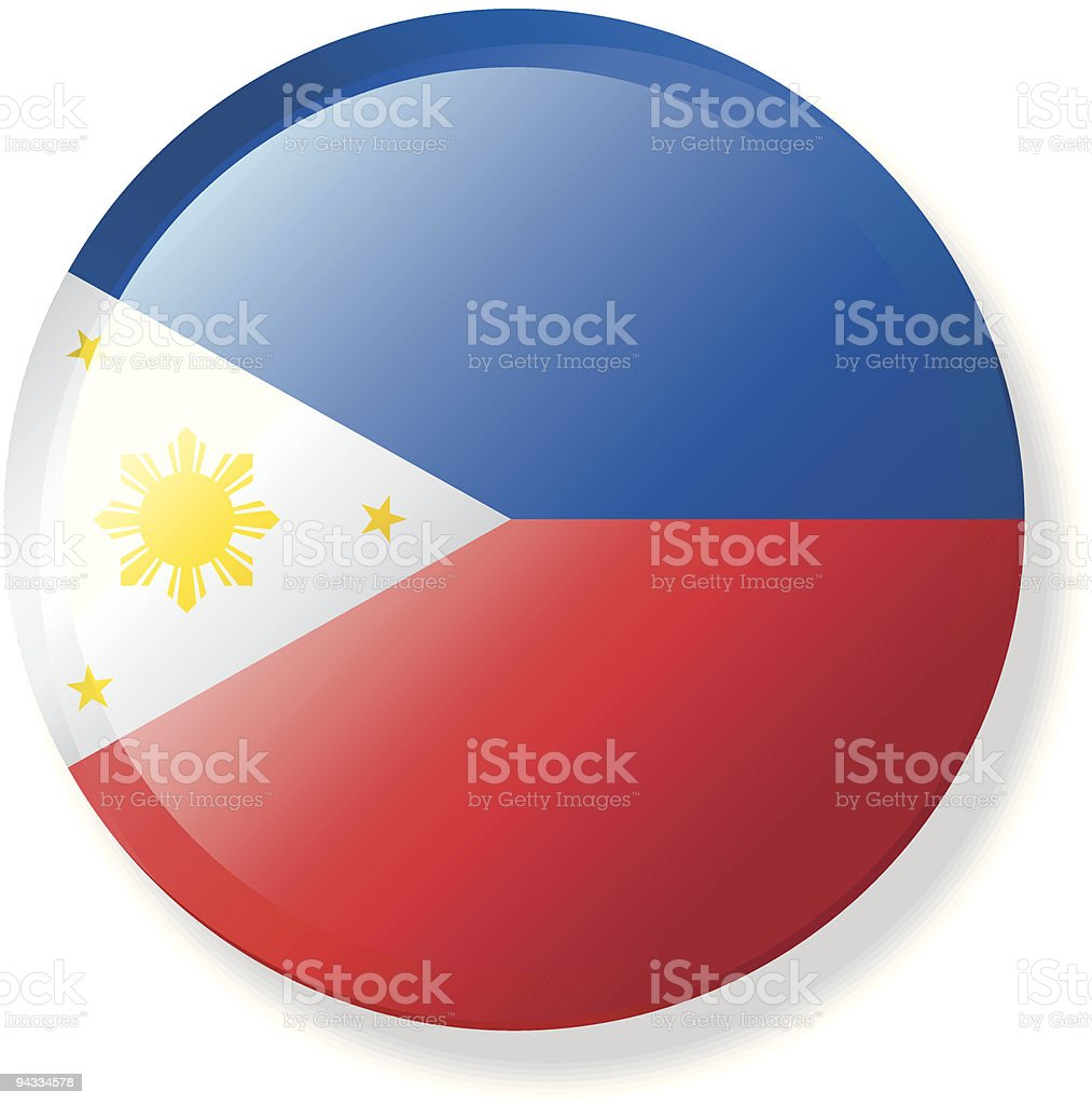 Flag Lapel Button - Philippines vector art illustration