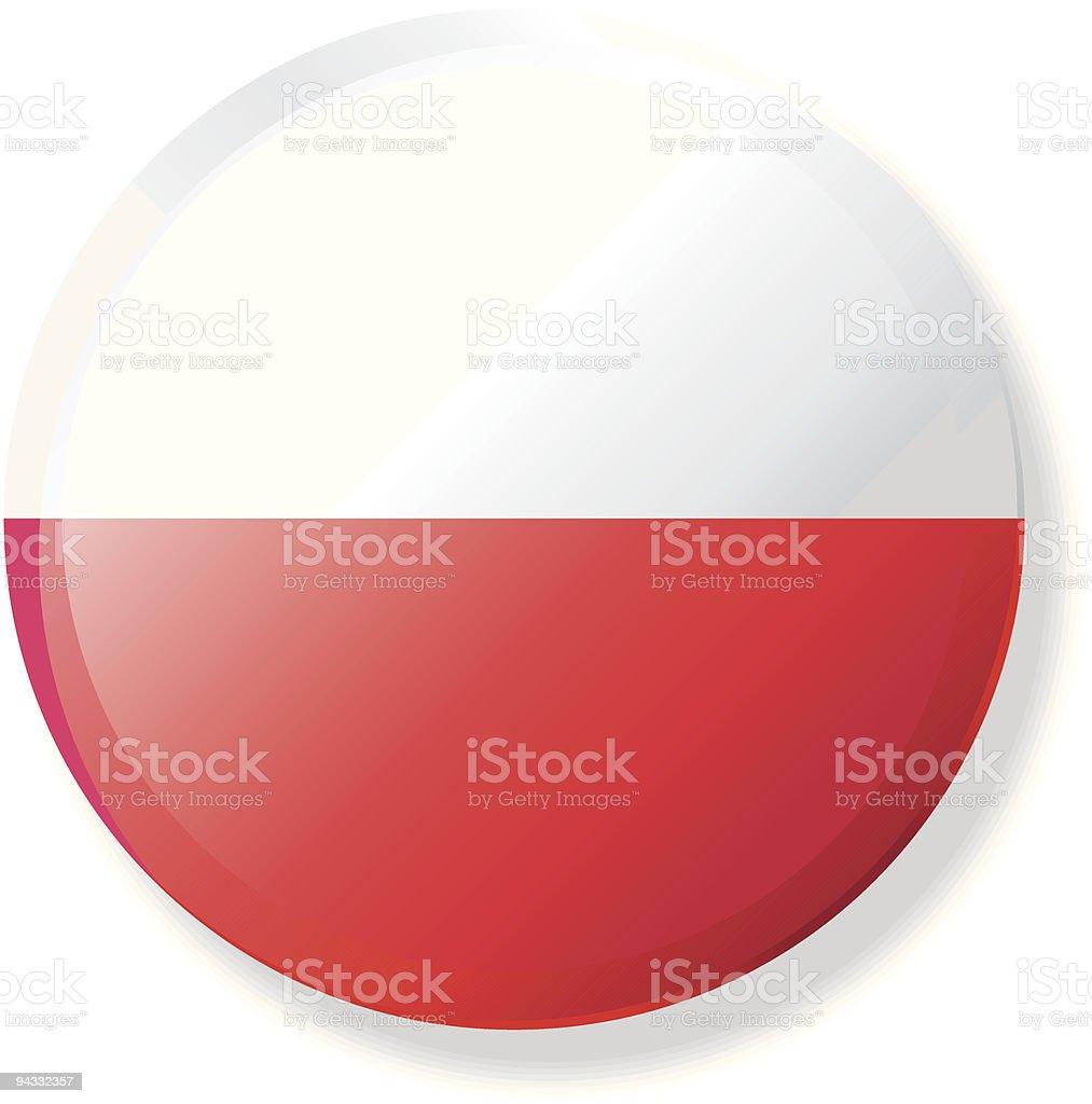 Flag Lapel Button - Poland royalty-free stock vector art