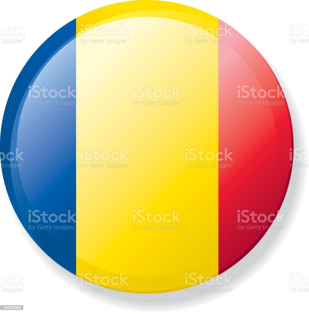 Flag Lapel Button - Romania vector art illustration