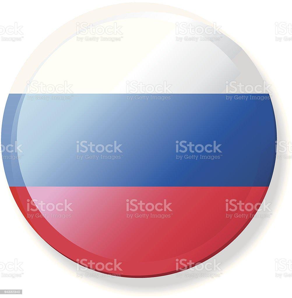 Flag Lapel Button - Russia vector art illustration